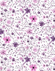 pink and purple floral flurry (vikki chu)