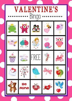Free printable bingo cards pinterest free printable bingo cards free printable valentines day bingo game solutioingenieria Image collections