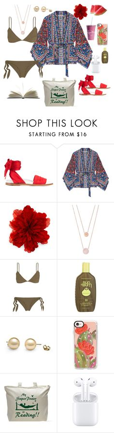 """Kiss me, outside."" by natspolyy on Polyvore featuring Marques'Almeida, Mes Demoiselles..., Gucci, Michael Kors, Marios Schwab, Sun Bum, Casetify and Humör"