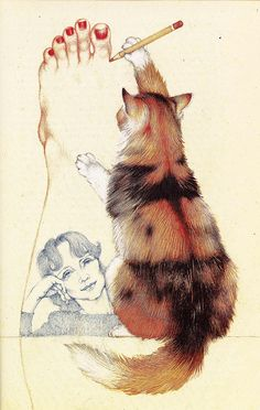 Katze und Kunst