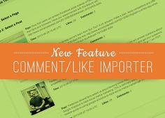 NEW FEATURE: Comment/Like Importer for Facebook Timeline Contests