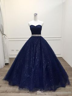 Bling Sequined Fabric Navy Quinceanera Prom Dresses 2019 Ball Gown Sweetheart Crystal Beaded Long Sweet 16 Dress For Girls Party Cheap New 2019 Quinceanera Sweet 15 16 Dresses Cheap Pao Sebastian Robe De Soiree Evening Formal Gowns Long Lace Sexy New Online with $146.11/Piece on Stunningdress88's Store | DHgate.com