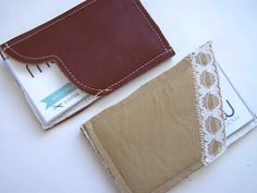 Leather business card holder tutorial