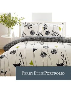 Perry Ellis Asian Lily Cotton Comforter Set, Full/Queen: Perry Ellis collections offer contemporary designs in cotton prints. The comforter sets include 1 comforter and 2 shams sham with twin size). The comforters are reversible. King Comforter Sets, Duvet Sets, Duvet Cover Sets, Queen Duvet, King Duvet, Bed Sets, Asian Lilies, Bed In A Bag, Cotton Duvet