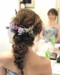 結婚式の花嫁髪型<2018年最新版>ヘアスタイル別アレンジ画像まとめ | みんなのウェディングニュース Formal Hairstyles, Braided Hairstyles, Wedding Hairstyles, Glamorous Hair, Shiny Hair, About Hair, Healthy Hair, Bridal Hair, Eye Makeup