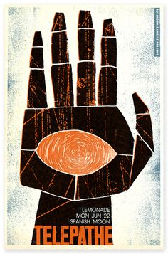 hand Telepathe poster design by Scott Campbell by Vintage Collective on Flickr