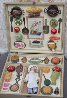 "Antique French Etrennes Presentation Box with Mignonette doll ""The from respectfulbear on Ruby Lane"
