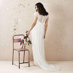 A Line Ivory Bridal Dress With Train