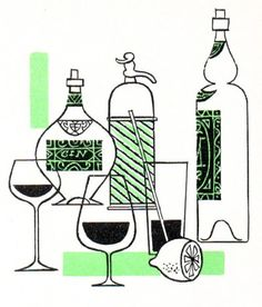 mid-century illustration, I could go for a drink right about now!