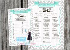 Mustache Baby Shower alphabet name game & what's by nslittleshop, $4.00