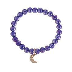 Beaded Charm Royal Stretch Bracelet