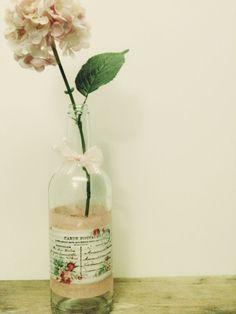 Shabby Chic , Pink Vase ,Table Decoration ,Pastel Summer Wedding Decor
