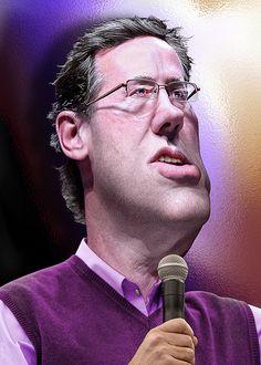 Rick Santorum - Caricature