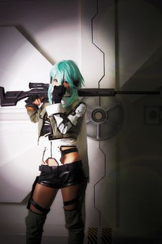 Sword Art Online 2 - Asada Shino aka Sinon - Cosplay (published by HALCA on Cure WorldCosplay)