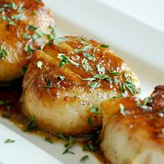 Seared sea scallops.  A must try!