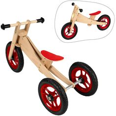 Boys Personalised Wooden Bike By Wooden Scooter, Wood Bike, Wood Kids Toys, Wood Toys, Making Wooden Toys, Kids Bicycle, Wooden Projects, Kids Furniture, Diy Crafts For Kids