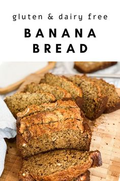 Banana bread is ALWAYS a winner… but what about a version that is also gluten-free & dairy free that tastes BETTER than the alternative? Say whhhaattt? Gluten Free Dairy Free Bread Recipe, Dairy Free Snacks, Dairy Free Recipes, Dairy Free Dinners, Gluten Free Recipes For Breakfast, Banana Bread Almond Flour, Dairy Free Banana Bread, Moist Banana Bread, Alternative