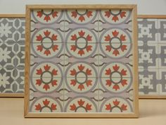 Handmade encaustic tiles, 15x15 cm format. 1552 Cuba (old colouring = red) . Brochure available.