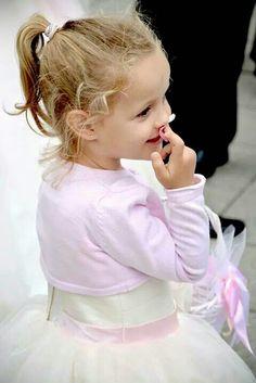 Little girl on a wedding