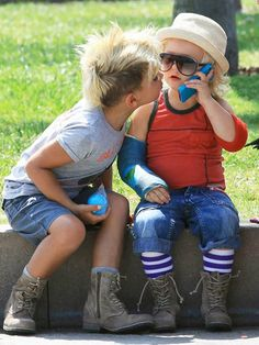 my future, hypothetical children will dress like this. hair and all.