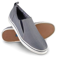 The Gentleman's Plantar Fasciitis Slip Ons - The shoes have built-in, podiatrist-designed stabilizing orthotic footbeds that realign feet to a neutral position, allowing the plantar fascia to stretch and reducing discomfort. - Hammacher Schlemmer