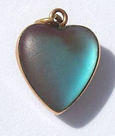 Saphiret heart pendant