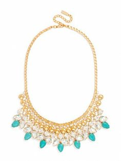 Gorgeous turquoise statement necklace. Glams up any look!