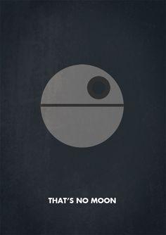 Death Star, Star Wars Poster Art, Illustration.