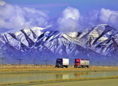 I-80 - One of the perks of a #trucking job: the scenery!