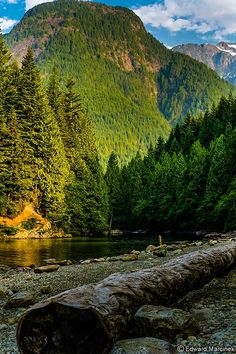 British Columbia: Golden Ears Mountains from Gold Creek Beach