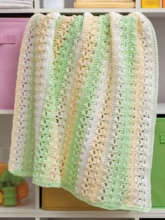 Fresh as a Daisy Baby Blanket Crochet Kit from Annie's Craft Store. Order here: https://www.anniescatalog.com/detail.html?prod_id=132373&cat_id=923