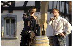 Martin (links) Braun, Vertrieb und Michael Braun, Keller. Foto © Weingut Braun