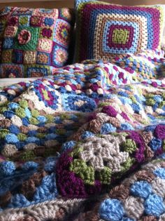 Häkeldecken Mantas de lana Crochet blanket