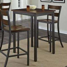 bar height bistro set 4 chairs - Google Search