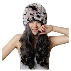 38.76$  Buy here - https://alitems.com/g/1e8d114494b01f4c715516525dc3e8/?i=5&ulp=https%3A%2F%2Fwww.aliexpress.com%2Fitem%2F2013-autumn-and-winter-rex-rabbit-hair-knitted-handmade-thermal-small-female-fur-hat%2F1371749283.html - H767 autumn winter  rex rabbit fur knitted warm caps with trim. thermal ladies black real rabbit fur hat 38.76$
