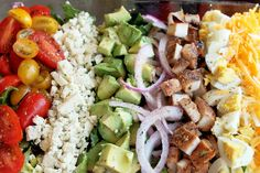 Grilled Chicken Cobb Salad with Strawberry Vinaigrette
