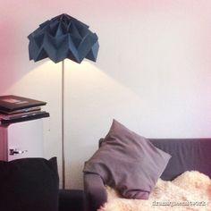 DIY paper origami lampshade lampenschirm plissé papier plissee stehlampe dramaqueenatwork
