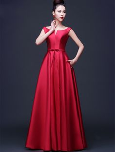 e4950618e081 dress mini Picture - More Detailed Picture about Newest Arrival Elegant Red  Evening Dresses 2016 A line Simple Satin Formal Prom Gowns Long de noite  Custom ...