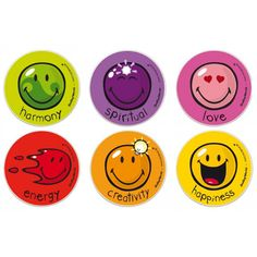 The Official Smiley Coasters - Happy colors (box of 6)