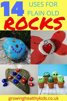 The Best Uses For Plain Old Rocks. kids love walking along the water looking for different shaped stones. They skim the flat ones, try and find the wierdest shaped river rocks, they've been painted , built into huge scultptures, used as target or a. Rainy Day Activities, Craft Activities For Kids, Crafts For Kids, Activity Ideas, Stem Activities, Summer Crafts, Summer Activities, Learning Activities, Diy Garden Projects