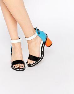 Image 1 ofKat Maconie Neive Multi Coloured Block Heeled Sandals