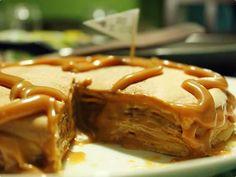 torta de panqueca com doce de leite