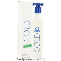 COLD by Benetton 3.4 oz / 100 ml EDT Spray Perfume for Women New in Box #Benetton