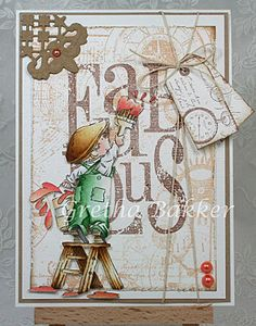 LOTV - Statements - Fabulous (and Lick of Paint stamp). Card by DT Gretha