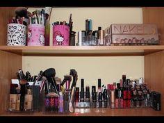 Cómo organizar tu maquillaje y Brochas Low Cost - YouTube