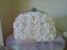 Red velvet cake with cream cheese roses