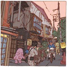 100 Views of Tokyo(46〜50) on Behance
