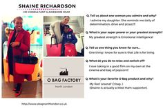 Our #WCW this week is Shaine Richardson.   We are so thrilled that Shaine shared her experiences with the #Obag London community!