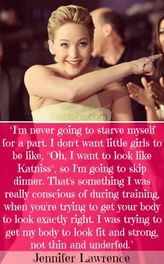 Now she's a real role model for young girls, REPIN if you agree! #jlaw #JenniferLawrence #Katniss