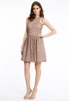 TWO-TONE SEQUIN LACE DRESS #homecoming #dresses #shortdress #style #fashion #lace